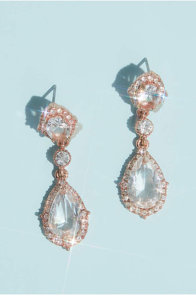 Filigree and Crystal Drop Earrings - Give off an air of elegance with these